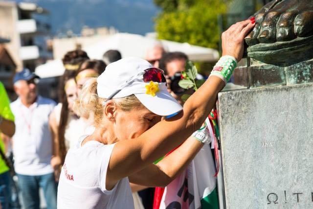 Maráz Zsuzsanna a Spartathlon női győztese 2018-ban a One Way Ticket Run fővédnöke